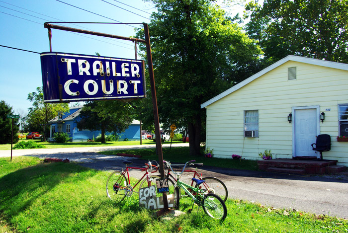 vintage Trailer Court sign (nd bikes for sale)