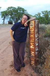 on the border - and a time zone change - in a ghost town!
