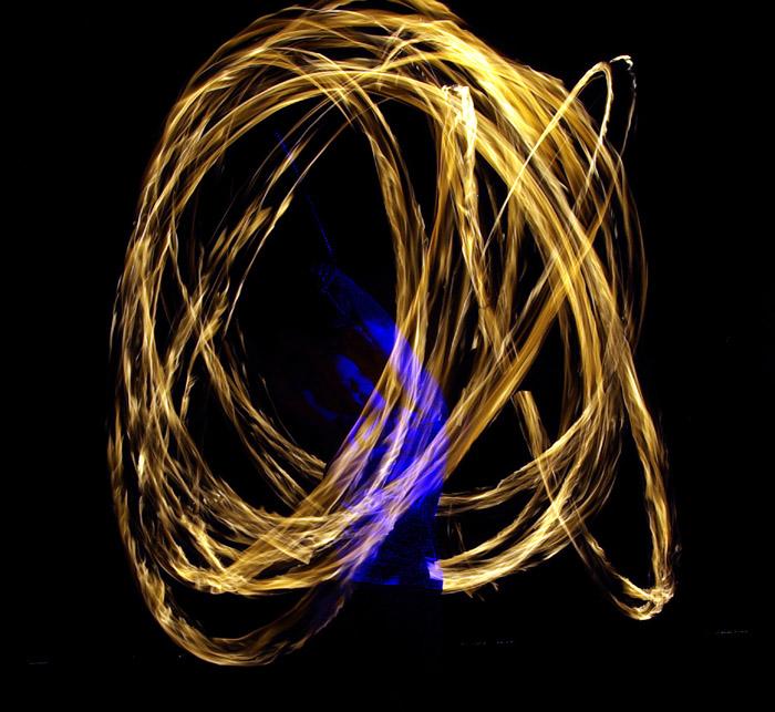 Cherie fire dancing