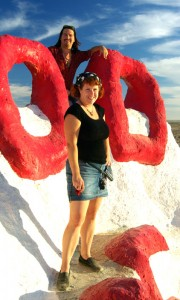 Cherie & Chris on Salvation Mountain