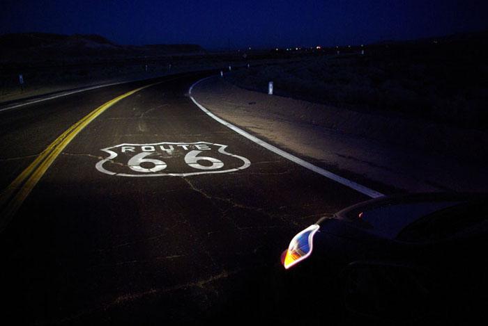 night on Route 66 - near Barstow, CA (January, 2009)