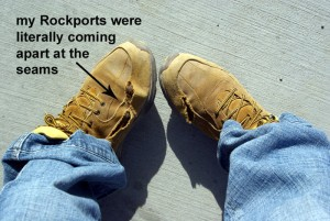my poor Rockports!  what a shame...