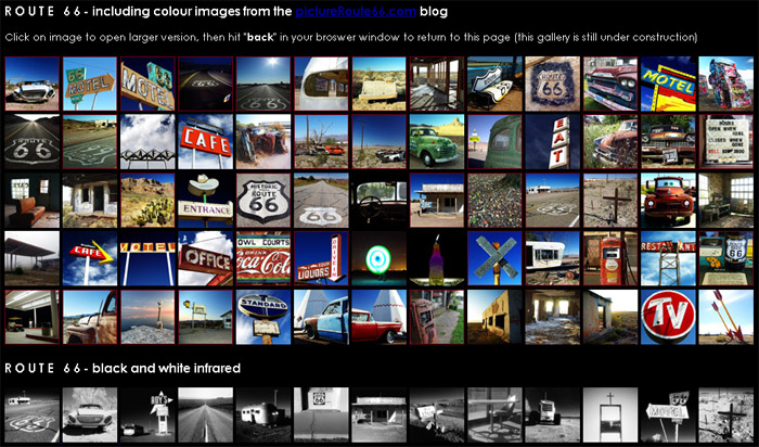 new gallery of Route 66 color images at sandiwheaton.com
