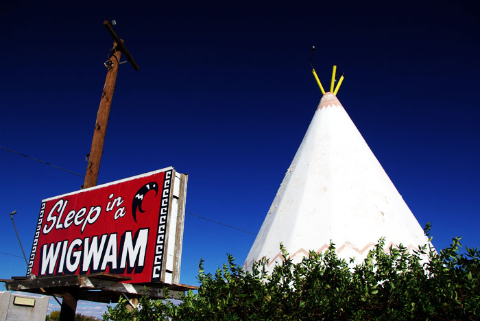 the famous WigWam Motel