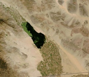 NASA image of the Salton Sea and Imperial Valley (All-American Canal runs lalong bottom-right of image)