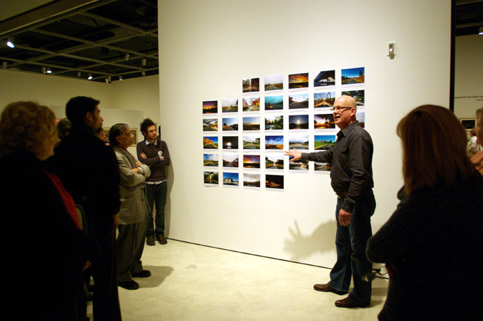 AGW's Chief Curator James Patten speaks about the shots from the time lapse series on opening night